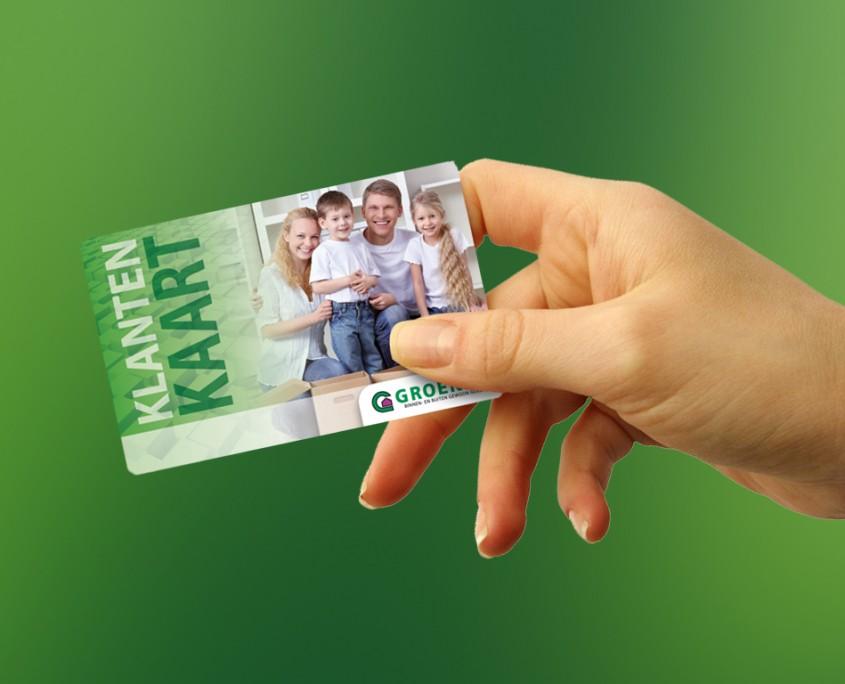 klantenkaart, cadeaukaart groenen bouwmarkt veldhoven